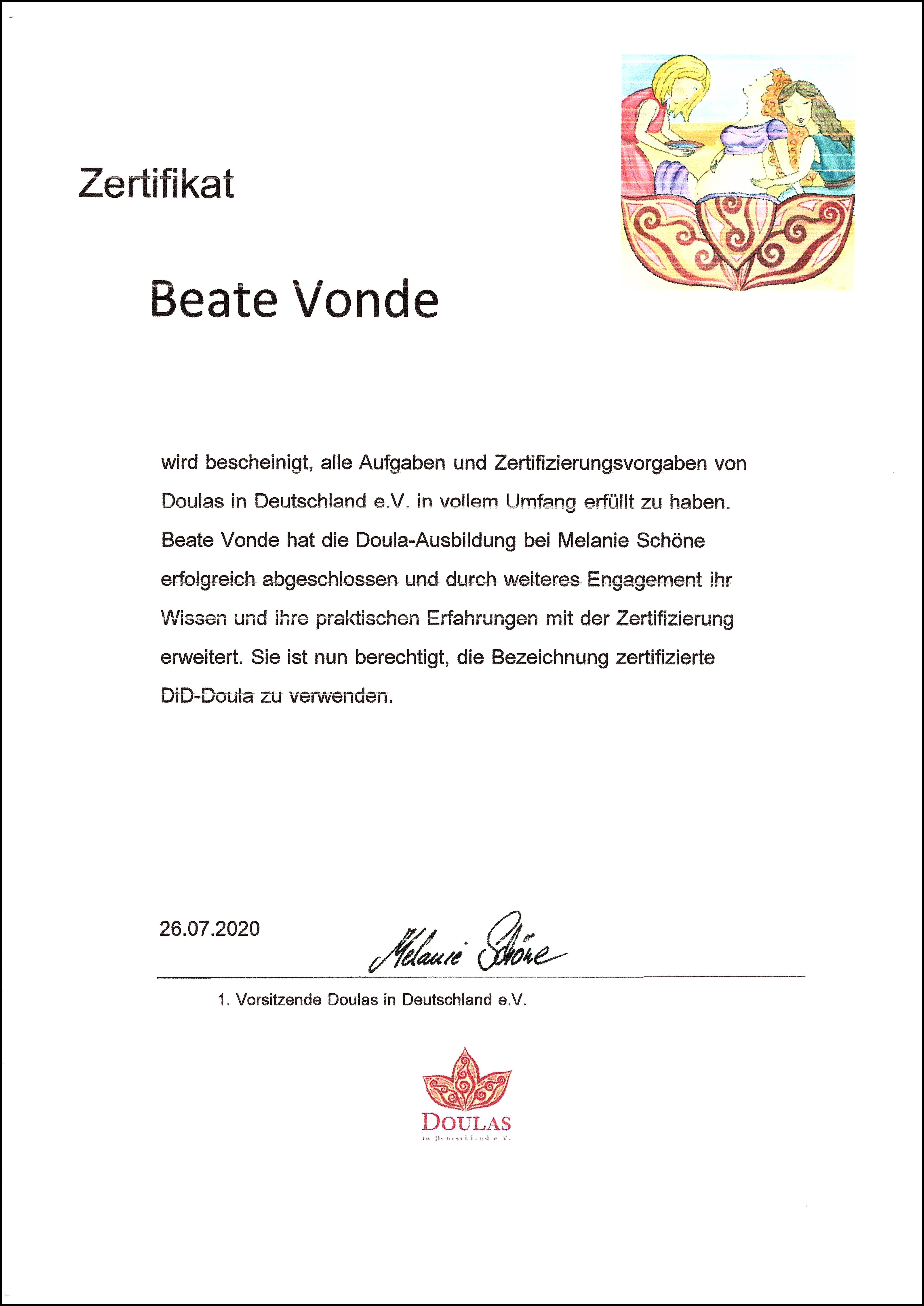 DiD-Zertifikat